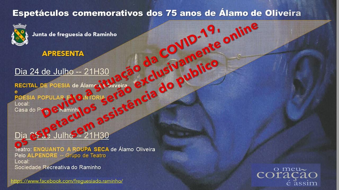 Espectáculos  comemorativos dos 75 anos de Álamo de Oliveira